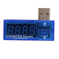 Wholesale quot LED Digital Red Display Mini Portable USB Charger Doctor Mobile Power Detector Battery Tester Voltage Current Meter WI54
