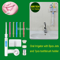 Wholesale MK104 Oral Irrigator No Electric Clareador Dental SPA Unit Waterpick Hygiene water jet with toothpaste device