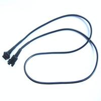 Wholesale RGB cm FT male plug to female plug balck extension wire for flexible led strip lights
