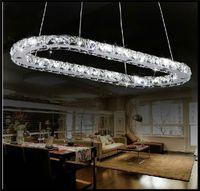 ac pendant stainless - AC v V W W W sizes Modern LED crystal Pendant lights lamps Abajur livingroom bedroom kitchen stainless steel lights