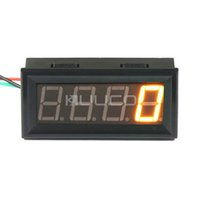 Wholesale Mini Digital Speedometer DC V Yellow LED Display rpm Tachometer High Accuracy Tacho Gauge Speed Monitor meter