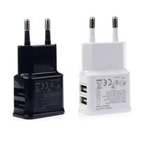 Wholesale 5V A Dual USB Wall Charger for Samsung EU US Plug AC Power Home Travel Adapter for Galaxy S4 S3 S5 Note HTC Nokia Blackberry