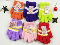 Wholesale Keep Warm Candy Colorful Children Winter Gloves Winter Wool Warm Gloves