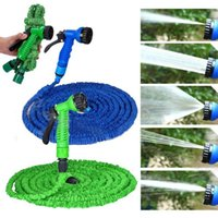 Wholesale Green Expandable Flexible Watering Euipment Garden Water Hose Pipe With Spray Nozzle Gun FT