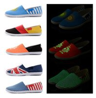 argentina shoes - 5 colors Glow in dark world cup National flag America Germany Brazil England Argentina print men casual fashion canvas sneakers shoes