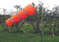 Wholesale Wind Vane wind indicator Orange and light trey striped pattern reflective type waterproof Wind Bag Windsock