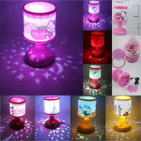 auto desks - Cute Hello Kitty Mickey Mouse Eiffel Tower Statue of Liberty LED Auto Color Change Projection Lamp Night Light Desk Light