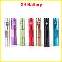 Cheap Newest X9 battery 1300mAh Electronic Cigarette X6 Upgraded 3.3-4.1V Variable Voltage battery for ce4 ce5 Aerotank mega V2 atomizer