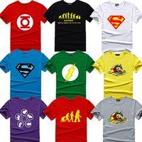 big geek - The Big Bang Theory T shirt Sheldon Cooper super hero green lantern the flash cosplay t shirts men women geek tee TBBT tshirt