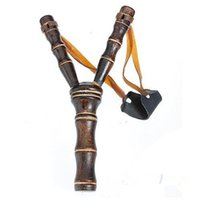 big category - Bamboo Style Wood Wooden Sling Shot Toys Slingshot Bow Catapult Hunting