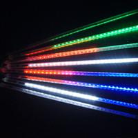Wholesale US Stock Meteor Shower Rain Outdoor LED Strings Christmas Fairy Lights Lighting CM CM Tube LED Flash Lights Waterproof