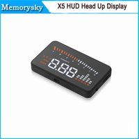 Wholesale 2015 new HUD x5 head up display inch with OBD II interface for Universal Car alarm security system Speedometer KmH MPH
