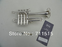 Wholesale Best US Bach Bb piccolo trumpet trumpet three tone trumpet monel piston