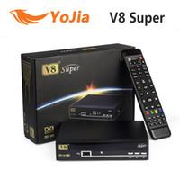 Receivers DVB-S v8 super 5pcs [Genuine] Openbox V8 Super DVB-S2 Satellite TV Receiver Support PowerVu Biss Key Cccamd Newcamd Youtube USB Wifi Set Top Box