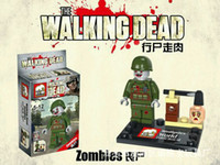 Wholesale The Walking Dead DARYL GLENN RICK MIAHONNE ZOMBIES Minifigures Bricks Toys Best Children Gift
