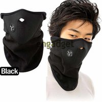 Wholesale Fleece Bicyle Cycling Motorcycle Face Mask Winter Sports Ski Snowboard Hood Wind Stopper Cap Headwear Thermal Black