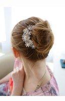 Wholesale Fashion Crystal Flower Bridal Accessories Women Crystal Hairpins Wedding Hair Accessories