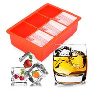 Wholesale High Quality Food Grade Square Soft Silicone Ice Cube Tool Tray Ice Maker Jelly Pudding Mould