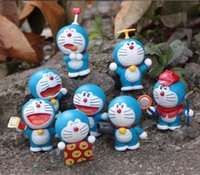 Wholesale 8 Piece Cute Doraemon Furnishing Articles Hand Do Doll Children Gifts A110