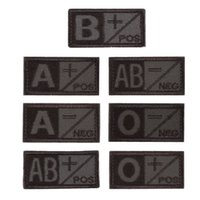 ab patches - 3D Military Woodland Blood Type Patch OD Green A B AB O Positive Hook NEG Coyote Tan Embroidery Cloth Standard Armbands
