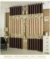 Wholesale Minimalist modern garden openwork stitching curtains living room bedroom balcony curtain