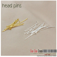 Wholesale free shippng jewelry findings silver plated beading accessoreies metal accessories head pins