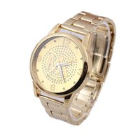 Wholesale Fashion Euramerican style gold wristwatch strip hot blast watch strip female golden watch fashion suit
