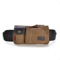 Wholesale high quality Men belt bag Canvas leg bags waist pack bag fanny pack running belt men travel bicycle bags colors