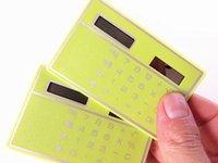 étudiants durables portable mini-bureau en plastique multifonction carte calculateur solaire ultra-minces