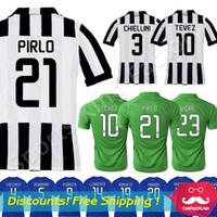 soccer uniforms - Thai Quality Juventus Jersey Juve FC Soccer Jerseys POGBA PIRLO TEVEZ VIDAL Soccer Uniform