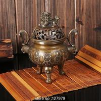 Wholesale Copper incense burner modelled after an antique censer Buddhist supplies Classical incense burner copper censer