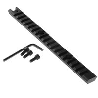 Wholesale 8 quot Picatinny Weaver mm Rail Scope Mount Slots For Rifle Shotgun Black VEB22 W0