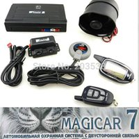 Wholesale High class scher khan magicar M7 Two two way car alarm system Russian version