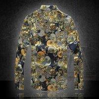 Wholesale New Men s Luxury Brands Linen Shirts Men long Sleeve Shirt Leisure Take a Man s Shirt M xl Size Code