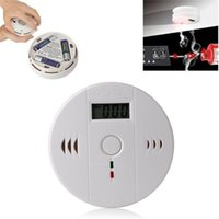 alert smoke alarm - CO Carbon Monoxide Detector Smoke Home Alarm Safety Gas Fire Poisoning Warning Alarm Sensor Battery operated Alert LED Display
