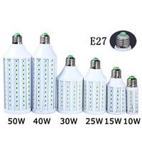 Wholesale Ultra bright Led Corn light E27 E14 B22 E26 SMD AC V V W W W W W W LM LED bulb degree Lighting Lamp