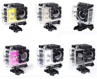 Wholesale SJ4000 style A9 Inch LCD Screen P Full HD Action Camera M Waterproof Camcorders SJcam Helmet Sport DV Car DVR by DHL