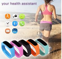 altitude design - New new Fashion Design Assorted Colors E02 Bluetooth smart Sports Bracelet alarm silicone IP57 Waterproof health assistant