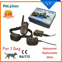 Wholesale Petainer M LV Electric Shock Rechargeable Waterproof Remote Dog Training Collar products with LCD Display For Dog