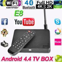 e8 android - Dual Wifi XBMC Bluetooth Set Top Box TV Receivers E8 Android TV Box Player Amlogic S802 Mali450 K G