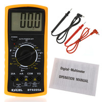 Wholesale AC DC LCD Digital Multi meter Volt Ohm Amp Multimeters Tester Checker H1764 data hold function