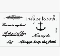 Wholesale Sex Products Temporary Tattoo Tatoo For Man Weman Waterproof Stickers makeup maquiagem make up in my heart Tattoo WM023