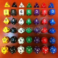 Wholesale Multi Sided Die D4 D6 D8 D10 D12 D20 DUNGEONS DRAGONS D D RPG Dice Game Set of