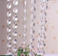beads string string glass beads - 50PCS HHA112 glass bead chain wedding decoration crystal prism bead chain wedding garland christmas tree crystal hung strands strung