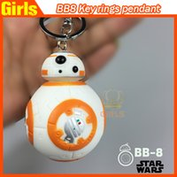 Wholesale Star War The Force Awakens BB Keychain Episode VII Movie Toy car keyring Bag Purse Pendant Accessory