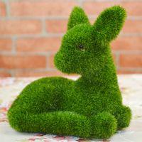Wholesale Moss Figurine Artificial Grass Turf Ornaments Deer CM Home Garden Decoration