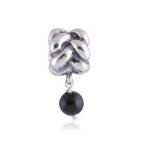 dangle charms - diy pearl dangle charms Black Pearl Shape Pendant Dangle Charm Fit European Diy Charm Bracelets LW271