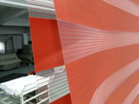 Wholesale 2015 New Custom Made Translucent Roller Zebra Blinds in Red Curtains for Living Room Colors Are Available