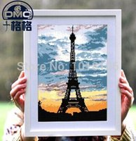 Wholesale Iron Tower Cross Stitch Embroidery Crafts Home Decoration Needlework Embroidery Kit