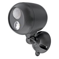 Wholesale Motion Sensor Light wall lamp w Wireless Inside Outside Home Waterproof Detector Led Lamp Black NEW Garden Lamp Battery Operated Lum